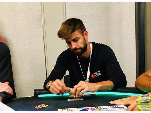 忙里偷闲,皮克、比达尔跨界参加扑克之星巡回赛
