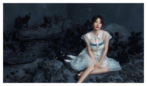 柳岩穿透视裙装曲线丰满性感 撩裙弄摆大秀雪肌美腿