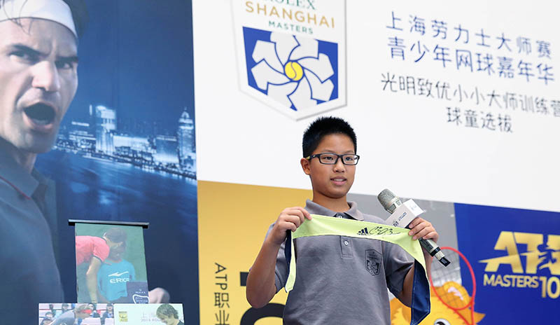 """上海劳力士大师赛选拔""""小小大师"""",青少年网球嘉年华请萌娃和球星亲密接触"""