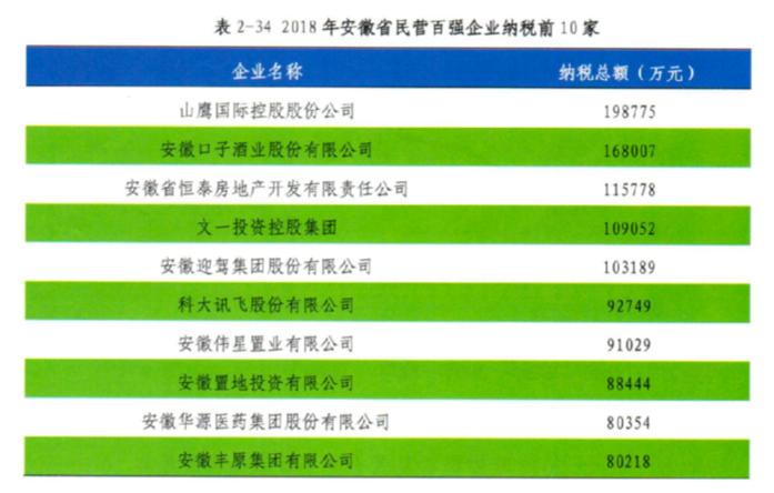 """安徽发布""""民营企业百强""""榜单 科大讯飞纳税总额全省排名第六"""