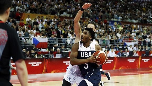 美国21分稳赢捷克,篮球世界杯首轮有狂胜无冷门