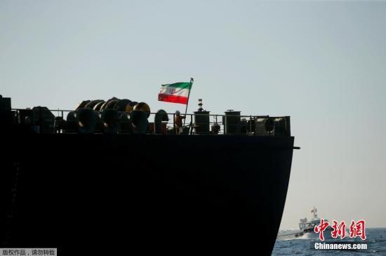 """材料图片:伊朗油轮""""阿德里安 达里亚一号""""。"""
