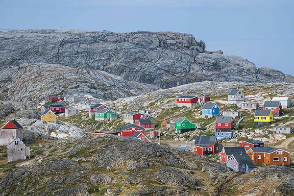 格陵兰岛Kulusuk镇。视觉中国 材料