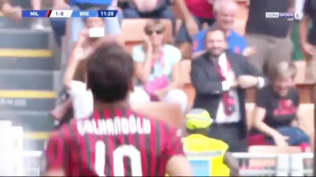 周末的意甲第二轮AC米兰1-0击败布雷西亚苏索助攻恰尔汉奥卢打入唯
