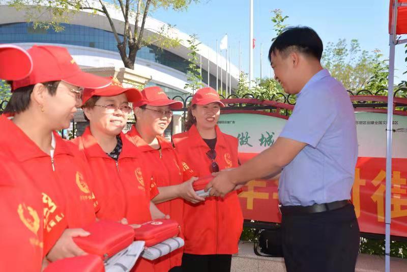 东丽区委政法委慰问残运会一线平安志愿