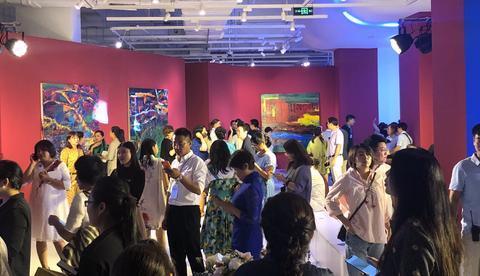 """""""何为东西""""张肇达油画与水墨画展在北京山水美术馆隆重开幕"""