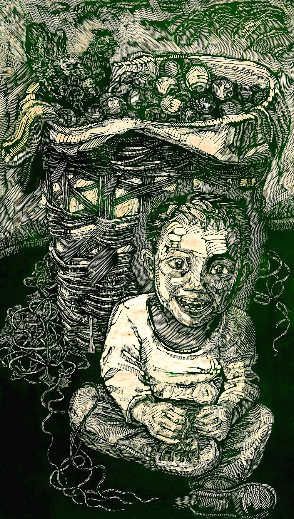 我所触摸的真实——读当代版画家马良芬作品