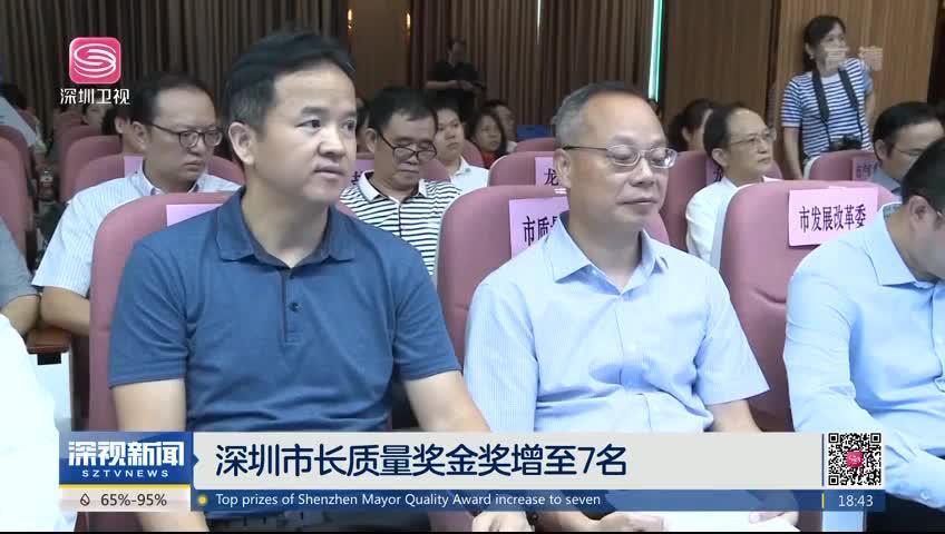 深圳市长质量奖金奖增至7名