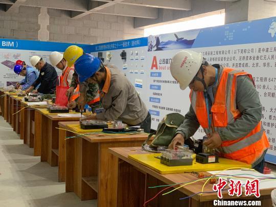 青海建筑业企业农民工比拼技能展