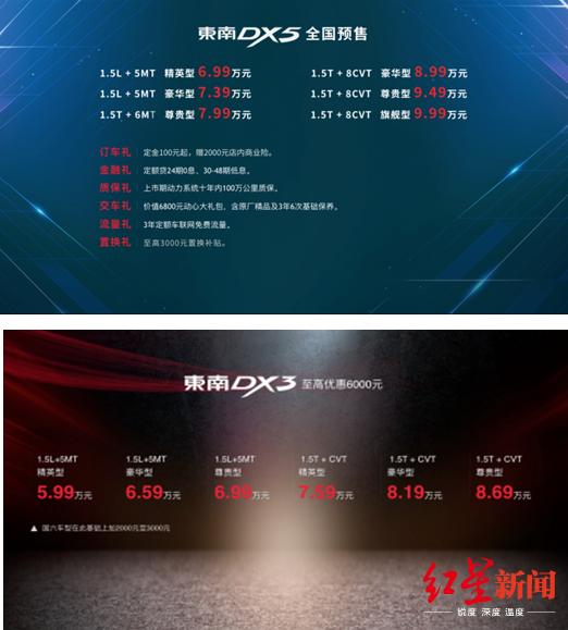 东南DX5成都车展开启预售 售价6.99万元起