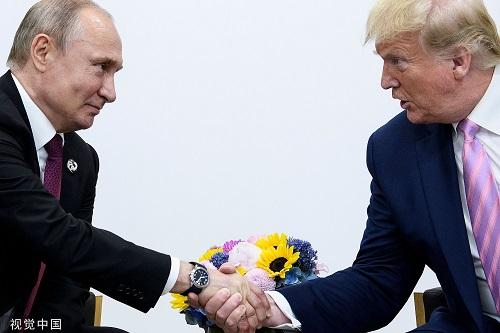 本地工夫2019年6月28日,日本年夜阪,好国总统特朗普会晤俄罗斯总统普京。 滥觞:视觉中国