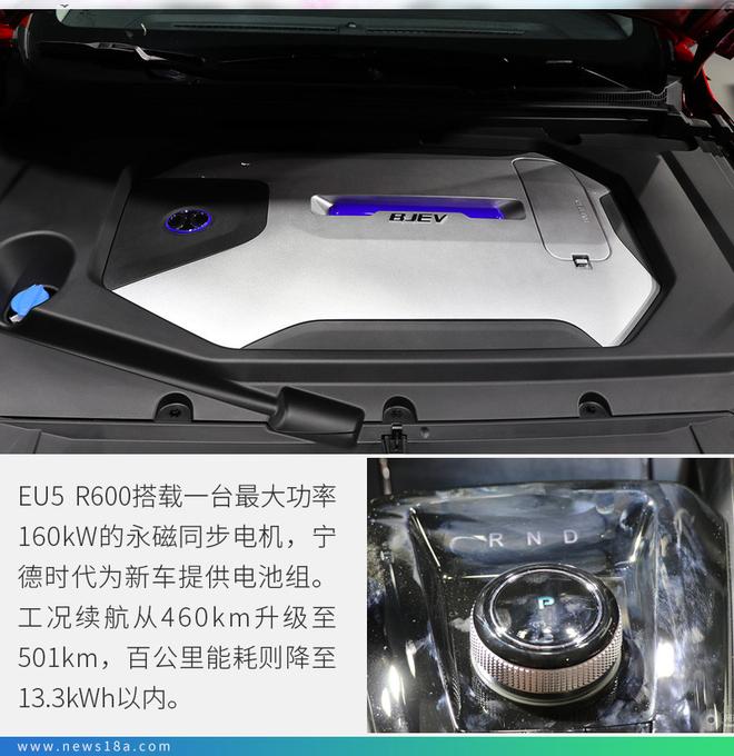 续航升级是重点 实拍北汽新能源EU5 R600