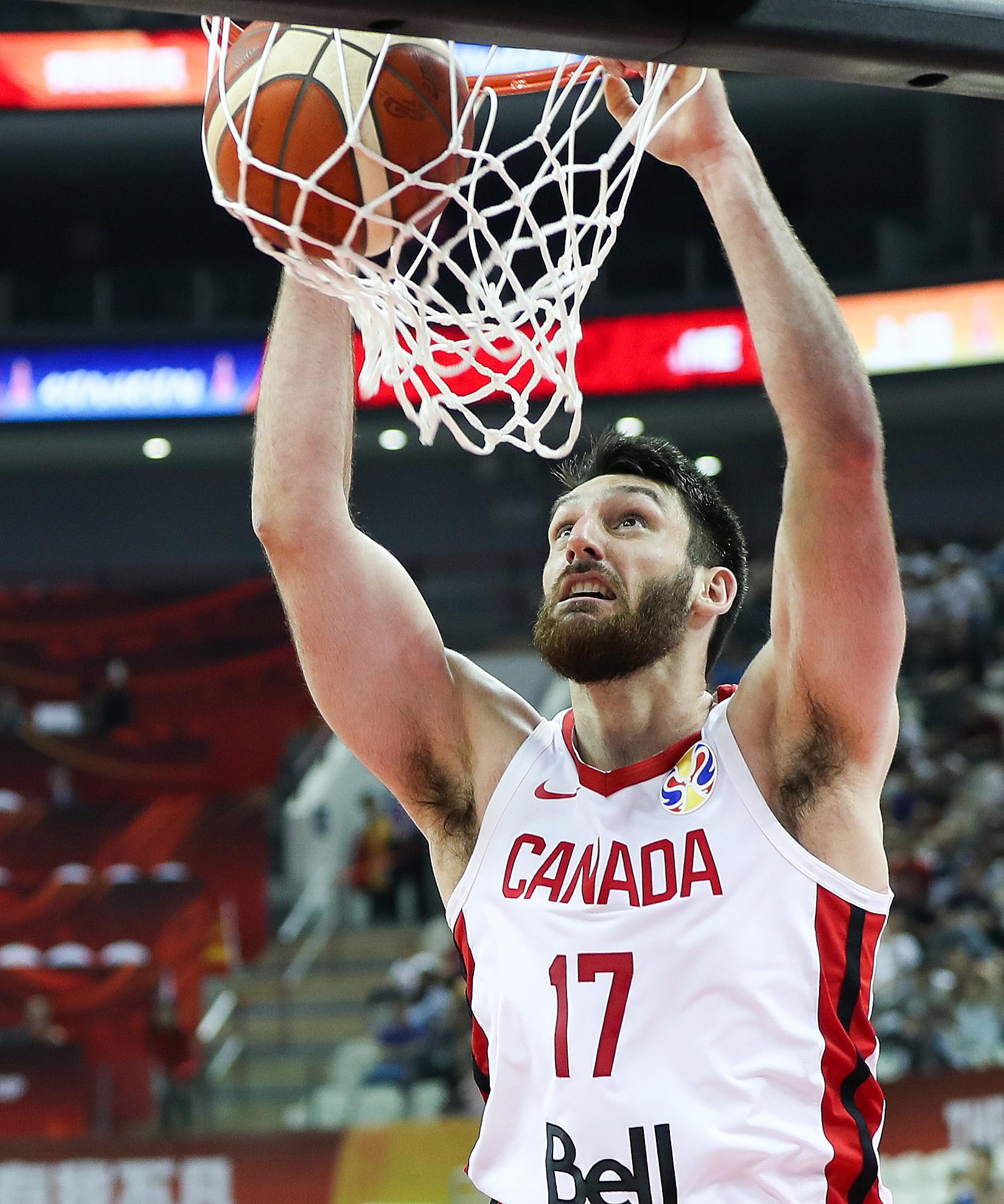 篮球世界杯 加拿大队55分大胜约旦队