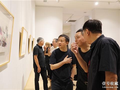 """重建中国传统文化符号 顾黎明""""山水赋""""作品展在汤湖美术馆开幕"""