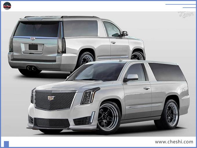 凯迪拉克推新大SUV,看完外观,有人发问,这么大的车,就两门?