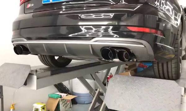 视频:奥迪S3 美国AWE Tuning 阀门版中尾段排气