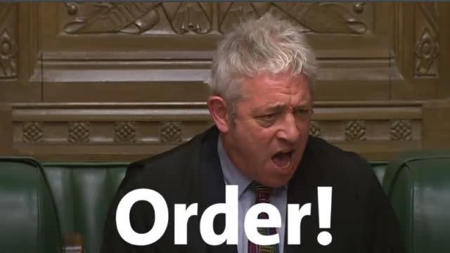 """英国下议院议长宣布将辞职,曾以大喊""""orrrrder""""闻名"""
