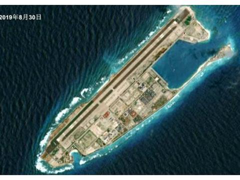 永暑礁建成永暑岛以后,变化好大,面积差不多相当于两个马尔代夫