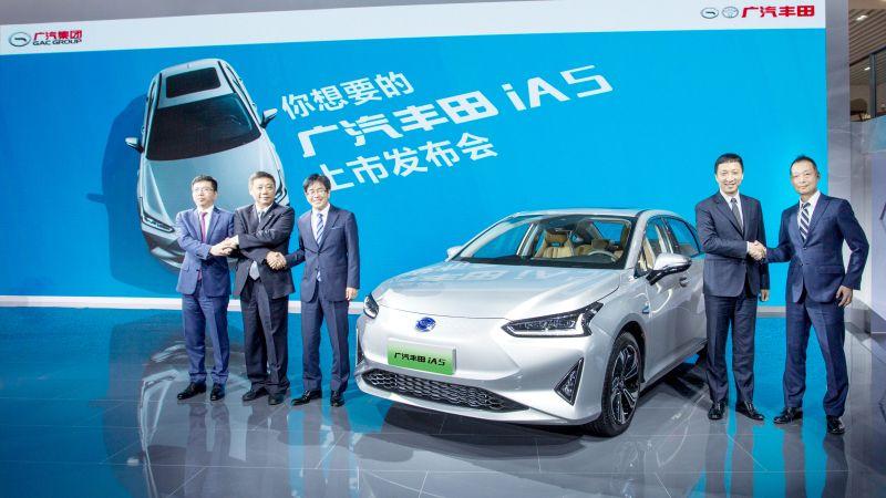 广汽丰田首款纯电轿车iA5上市 16.98万起续航510公里