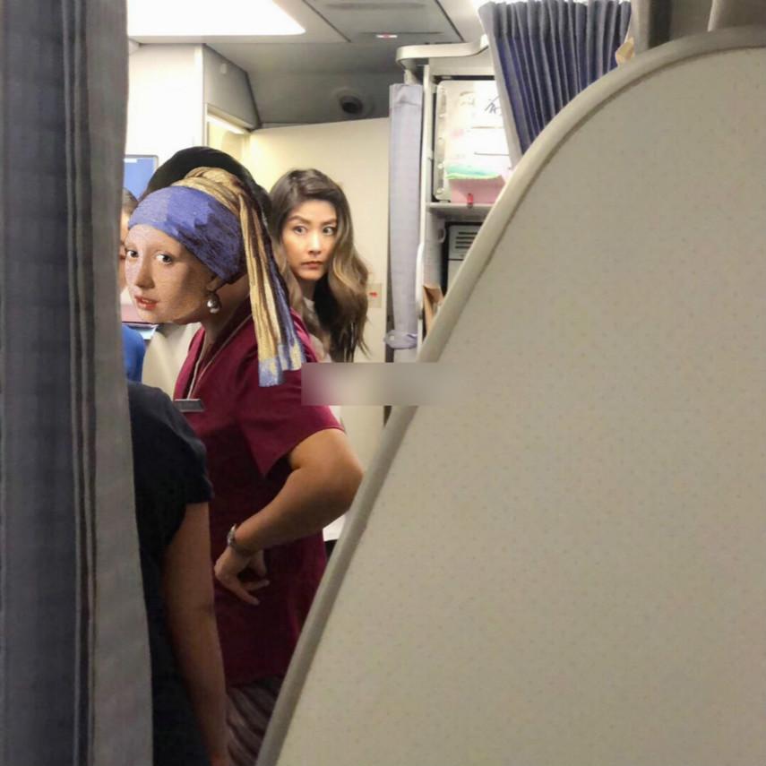 陈慧琳乘飞机坐头等舱,素颜状态一级棒,360度无死角的美