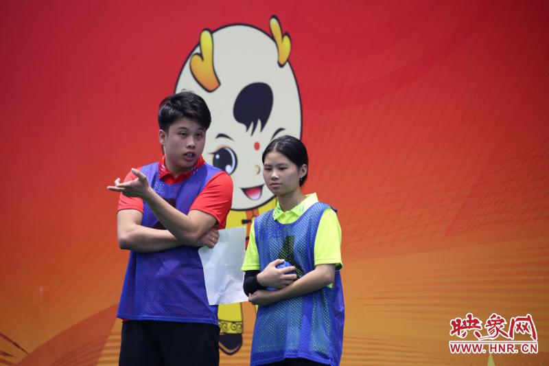 第十一届全国少数民族传统体育运动会福建队成功夺得男女混合双蹴一等奖