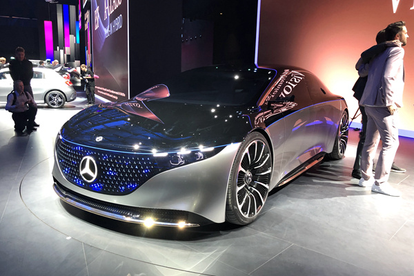 法兰克福车展:奔驰VISION EQS,电动的S级!