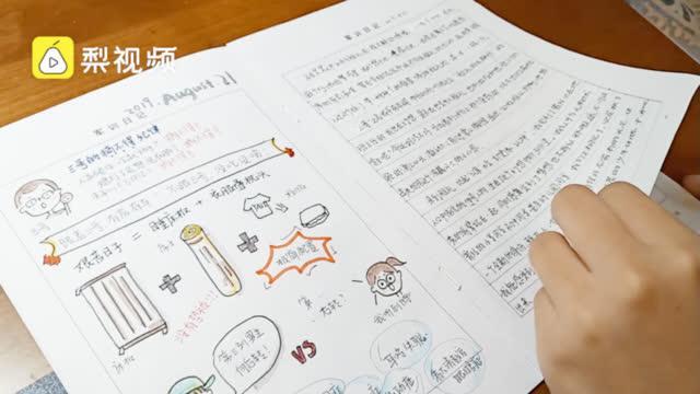 【有才!#高中女生画漫画记录军训#】小学