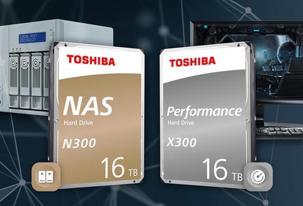 东芝推出16TB NAS及桌面硬盘:512MB超大缓存 274MB/s速度