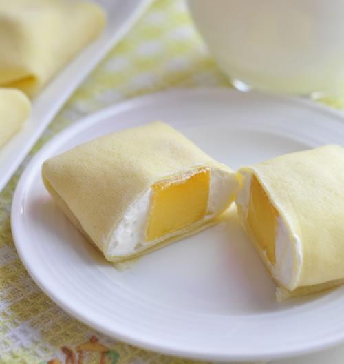 自制芒果班戟特别简单 当甜点早餐都合适 10块钱成本吃一周!