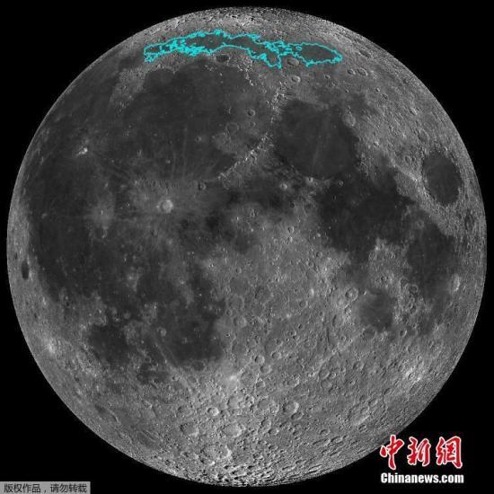 材料图:月球。