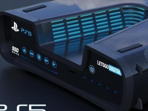 索尼PlayStation 5的3D高清渲染图来了