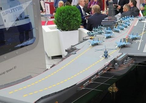 没钱也要硬上!俄罗斯明年要造两艘航母 排水量超过1.5万吨