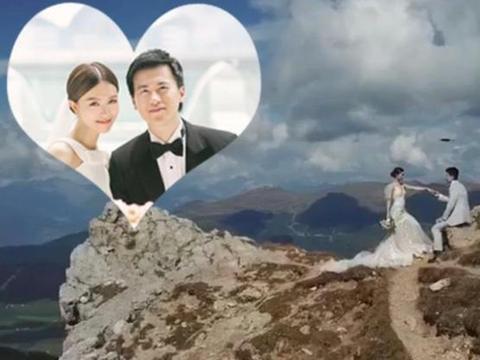 文咏珊与富豪老公3千米悬崖上拍婚纱,戴巨型鸽子蛋大过baby