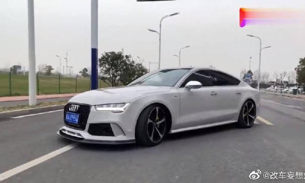 视频:奥迪A7改装后现身街头,外观更具轿跑特征!