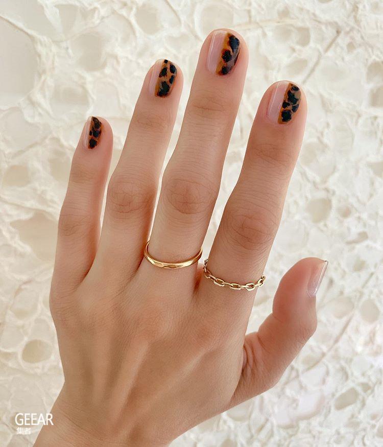 秋季最显气质的美甲潮流:Ins女生都在炫耀玳瑁色指甲!