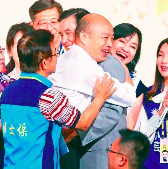 韩国瑜马英九茶会上拥抱 破不和传言(图)