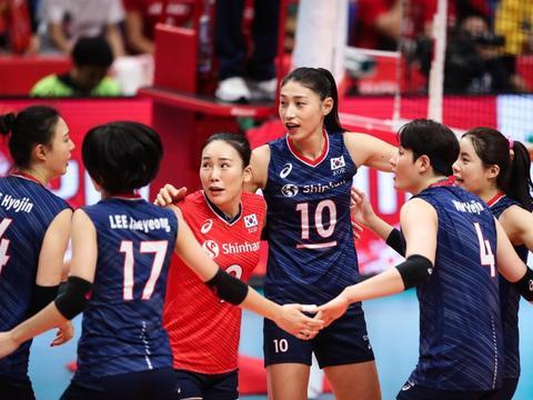 日本挽救5个赛点,金软景显王者之气,韩国成功复仇!18-19日赛程