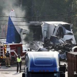 911恐袭18周年纪念日,灾难再度降临美国,一架货机坠毁机场附近