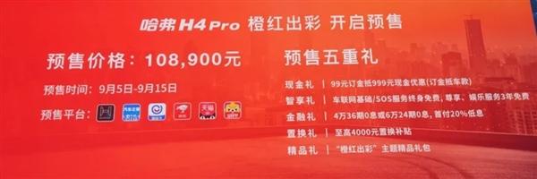 哈弗H4 Pro预售:285牛米+换挡拨片
