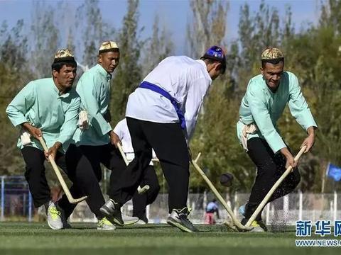 """""""新疆民族传统运动""""曲棍球"""":低调现身,高调进行"""""""