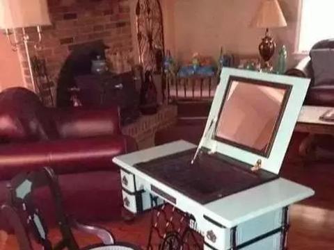 你万万没想到的原来老式缝纫机还可以这样玩!变废为宝