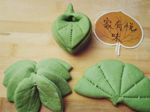 红花就要绿叶配,分享2款花样绿叶馒头的做法,做法简单又好看
