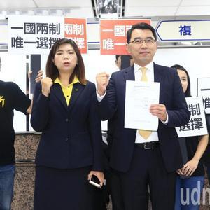 """新党杨世光正式登记参选2020,称""""一国两制""""是台湾唯一选择"""