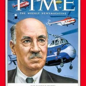 """发明四发客机的""""直升机之父""""登上时代周刊的伊戈尔·西科斯基"""