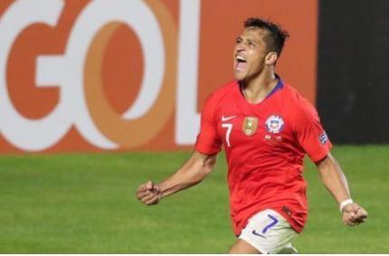 美洲杯赛桑切斯帮助智利队4:0战胜日本队