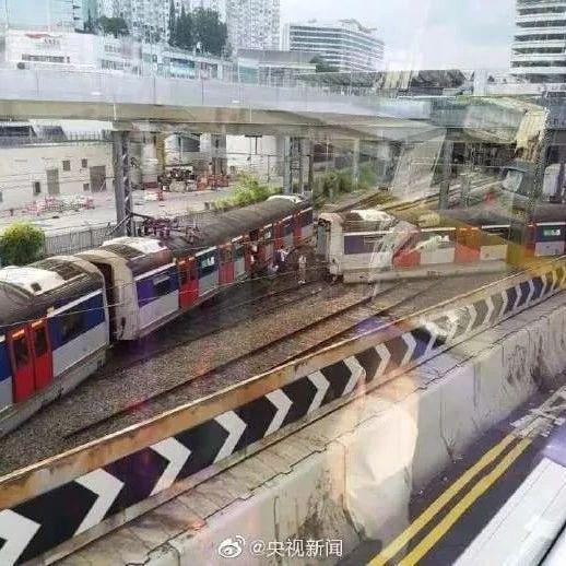 突发新闻!今早香港地铁出轨!