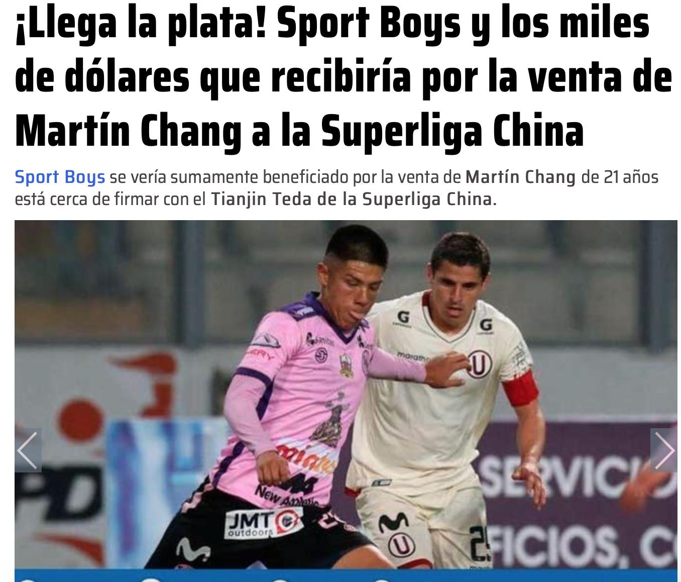 曝21岁秘鲁后卫加盟泰达签4年 2020年入中国籍