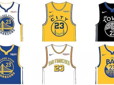 新主场配新球衣!勇士公布下赛季6款新球衣,仍由日本乐天赞助
