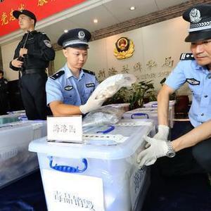 人体、快件藏毒无所遁形!广州海关集中销毁走私毒品312公斤