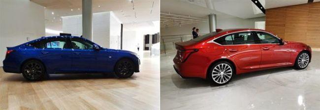 全新国产凯迪拉克CT5实车到店,两种外观,哪个是你的菜?